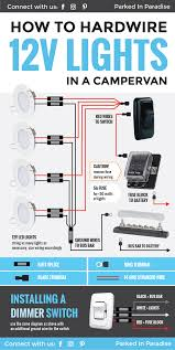 wiring 12 volt lights into a campervan or rv electric system