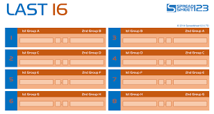World Cup Tournament Chart Football World Cup Bracket Free Template For Excel