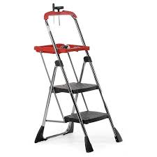 picture of chrome plated folding step with tool tray