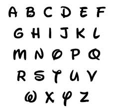 Disney Font 10 Disney Font Unfinished Wooden Letters And By