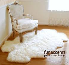white faux fur area rug contemporary exquisite interesting sheepskin bedroom rugs throughout 13