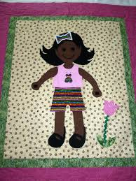 Dress Me Doll Quilt. Here is a sweet little doll quilt with dark ... & Dress Me Doll Quilt. Here is a sweet little doll quilt with dark brown skin Adamdwight.com