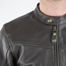 rsd walker leather jacket brown collar