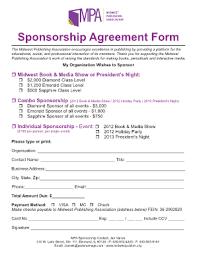 sponsorship agreement corporate sponsorship form parlo buenacocina co