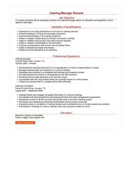 catering manager resume catering manager resume sample best format