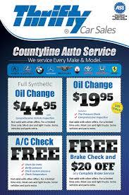 Auto Repair Flyer Thrifty Car Sales Auto Repair Service Coupon Flyer Design