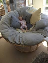 pampasan chair. Decorative Bamboo And Rattan Papasan Chair With Grey Cushion Pillows Pampasan
