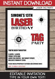 laser birthday party invitations free birthday invitations