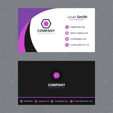 cards templates purple business card template psd file free download
