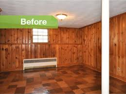 traditional knotty to nice painted wood paneling lightens a room s look