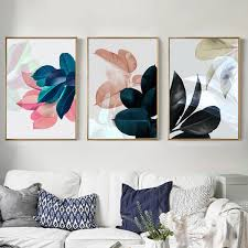 perbezaan nordic poster new plants leaf picture art print wall pictures for living room wall