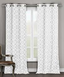 duck river textile white harris blackout grommet curtain panel set of two