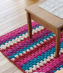 Free Crochet Rug Patterns Interesting Ravelry Ami Cotton Striped Rug Pattern By Pierrot Gosyo Co Ltd