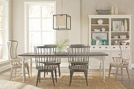 juniper leg table with 4 side chairs and 2 host chairs hom furniture