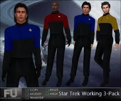 Second Life Marketplace Star Trek Working 3 Pack Mens Star Trek