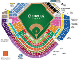 Comerica Park Seating Chart By Rows Boudd Comerica Park Seating Chart