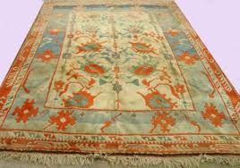 orange beige blue rug approx 9399 x 63910