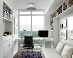 office built in. study room - small scandinavian built-in desk idea in toronto with white office built s