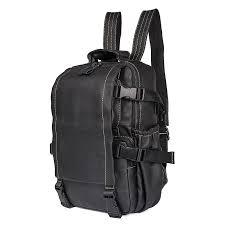 Retro <b>Cow</b> Leather <b>Men's</b> Computer Shoulder Backpack <b>Bag Travel</b> ...