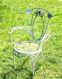 wrought iron patio furniture vintage amazing metal chairs for elegant outdoor