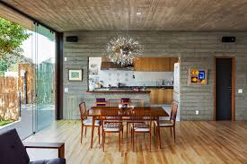 urban house furniture. Dining Area, Lighting, Concrete Walls, Ceiling, Wood Flooring, Urban House In São Paulo, Brazil Furniture R