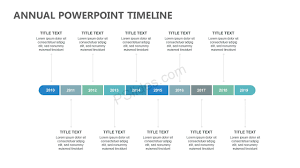 Timeline Powerpoint Slide Annual Powerpoint Timeline Pslides