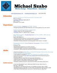 My Resume Free Job Cv Example