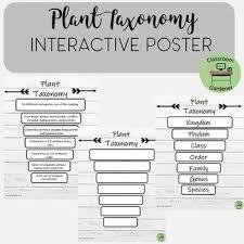 Plant Taxonomy Poster Plant Taxonomy Teaching Biology