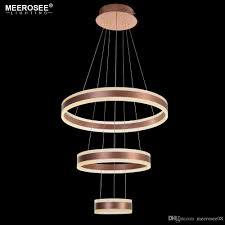 modern 3 circle rings led pendant lights for living room dining room led re rose gold pendant lamp hanging luminaire wine barrel chandelier birdcage