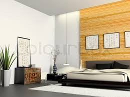 modern chinese furniture. interior of modern bedroom with chinese furniture 3d rendering stock photo colourbox