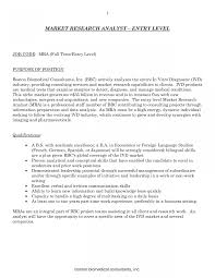 Research Analyst Resume Sample Market Image Examples