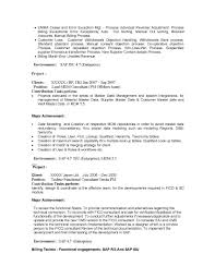 Master Data Resume Sample Sidemcicek Com