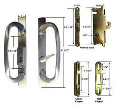 image is loading patio door handle kit mortise lock and keepers