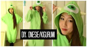 Adult Onesie Pattern Extraordinary DIY Mike Wazoski OnesieKigurumi YouTube