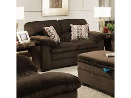 simmons loveseat. simmons upholstery 3684 stationary loveseat with pillow-top arms \u0026 exposed wood legs - dunk bright furniture love seats
