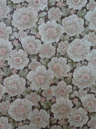 Vintage Brown Pink Floral Wallpaper Funkywalls Dé Webshop Voor