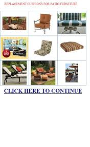 Replacement cushions for patio furniture Discount replacement