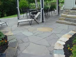 installing flagstone patio over concrete home design ideas