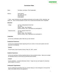 Vita Resume Template Curriculum Sample Vitae Cv Free