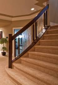 open riser stairs with glass custom staircase glass staircase