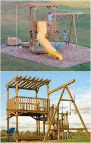 backyard with kids in mind diy swing sets