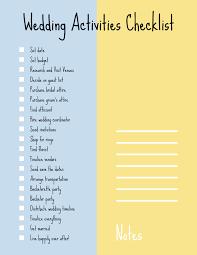 Wedding Coordinator Checklist Simple Handwritten Wedding Checklist Template