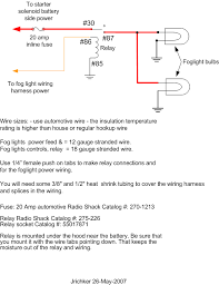 fog light relay??? mustang forums at stangnet 30 Amp Relay Wiring Diagram Fog Lights the advantage of making your own fog light wiring harness is that you can run 100 watt fog light bulbs the stock wiring harness will not use 100 watt bulbs Fog Light Relay Kit