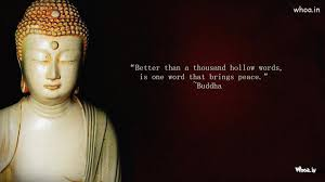 Statue Quotes Mesmerizing White Lord Buddha Statue With Quote Wallpaper