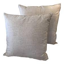 textured throw pillows a pair  chairish