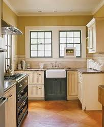 Contemporary Kitchen Design Ideas Country Style Small Black And Cream Cottage For Decor