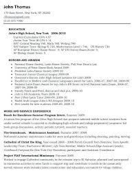 Resume Example College College Scholarship Resume Examples