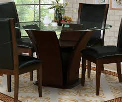 classic warm dark brown large round dining table