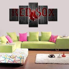 boston red sox team baseball it make your day on boston red sox canvas wall art with 5 piece boston red sox baseball canvas art painting frames for sale