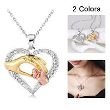mom necklace baby heart pendant mother